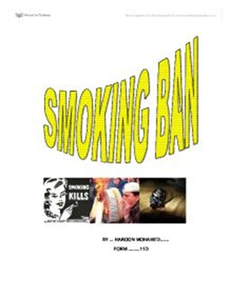 Second Hand Smoke Essay: Effects and Examples